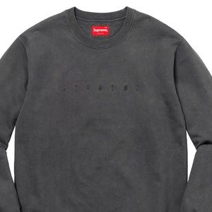 Black over dyed pullover crew neck